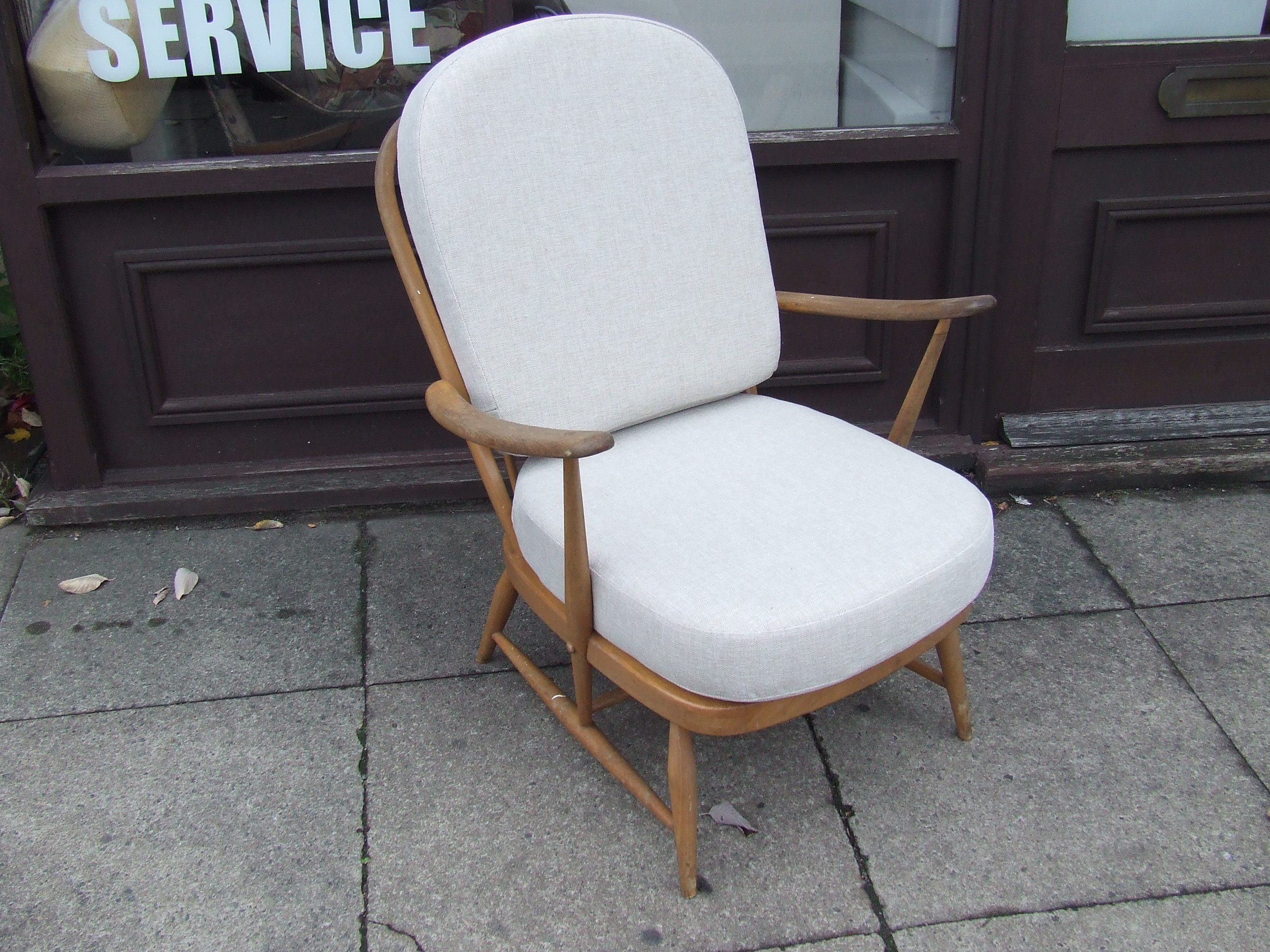 The Ercol Windsor easy chair No 334  The cost of a complete set of cushions  for a chair is  160 00  plus  20 00 courier charge  Similar product from  Ercol cushions   furniture. Ercol Easy Chairs For Sale. Home Design Ideas